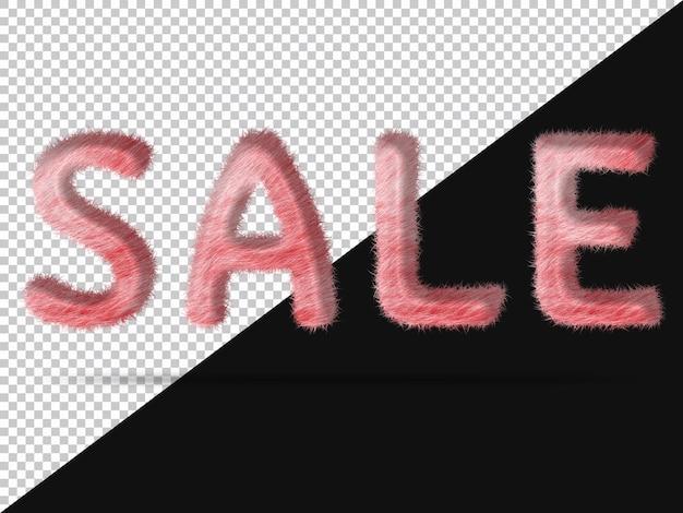 Verkaufstext mit realistischem 3d-fell