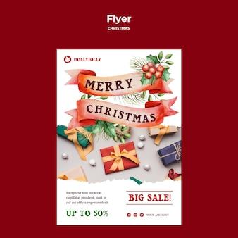 Verpackte geschenkplakatdruckvorlage