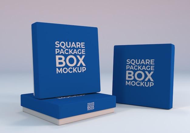 Verpackung square box mockup