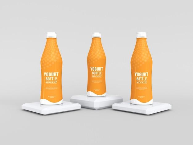 Verpackungsmodell für joghurtflaschen