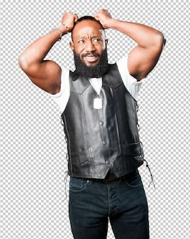 Verrückter schwarzer mann
