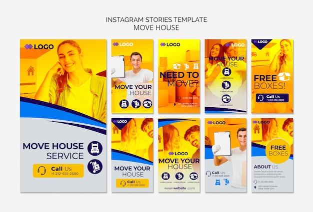 Verschieben sie haus business instagram geschichten vorlage