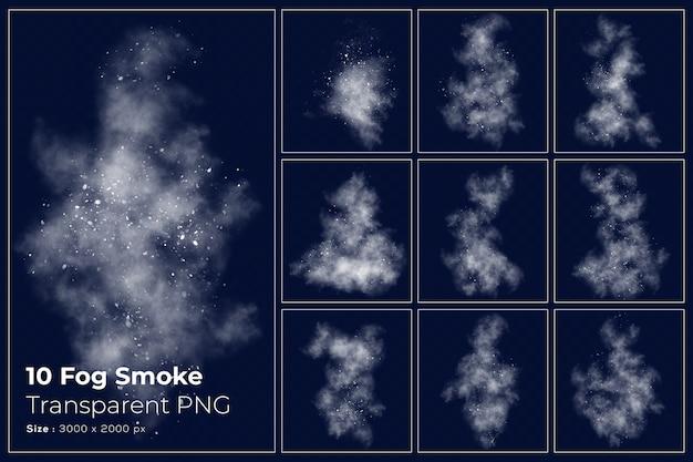 Verschiedene formen der transparenten sammlung des nebelrauchs