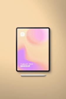 Vertical portrait pro tablet mockup für uiapp design