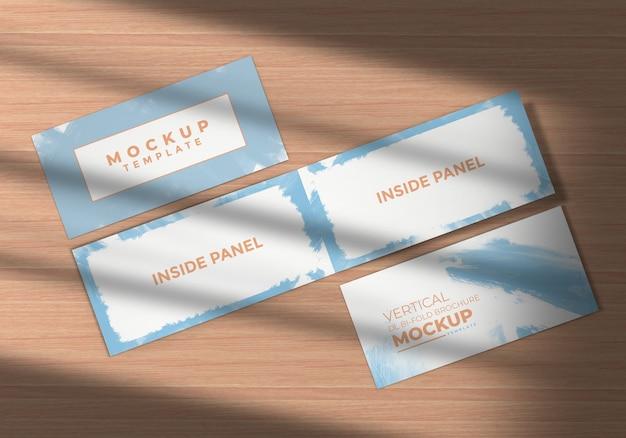 Vertikale dl bi-fold brochure mockup template