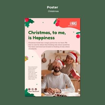Vertikale druckvorlage für festliche weihnachten