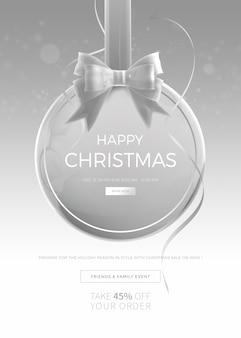 Vertikale fahnen- oder plakatschablone des weihnachtsverkaufs