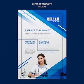 Vertikale flyer-vorlage für die coronavirus-impfung
