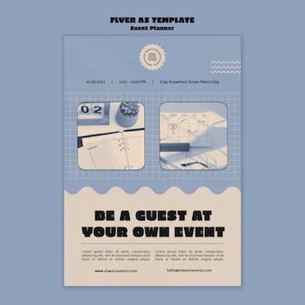 Vertikale flyer-vorlage für veranstaltungsplaner