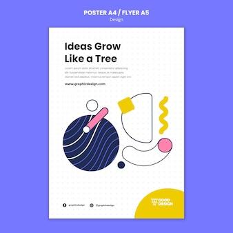 Vertikale plakatschablone für grafikdesign Kostenlosen PSD