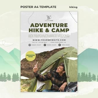 Vertikale plakatschablone für naturwandern