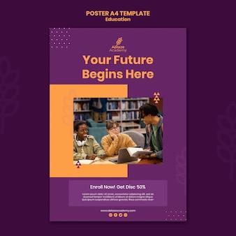 Vertikale plakatschablone für universitätsausbildung