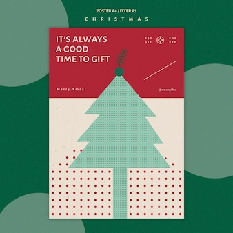 Vertikale plakatschablone für weihnachten