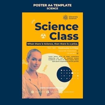 Vertikale plakatschablone für wissenschaftsklasse