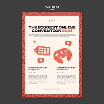 Vertikale plakatvorlage für die größte online-konvektion 2021