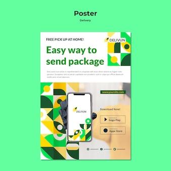 Vertikale plakatvorlage für lieferfirma