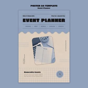 Vertikale plakatvorlage für veranstaltungsplaner