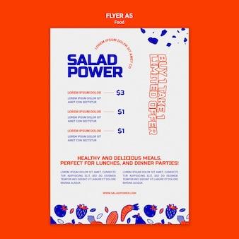 Vertikaler flyer für salatkraft Kostenlosen PSD