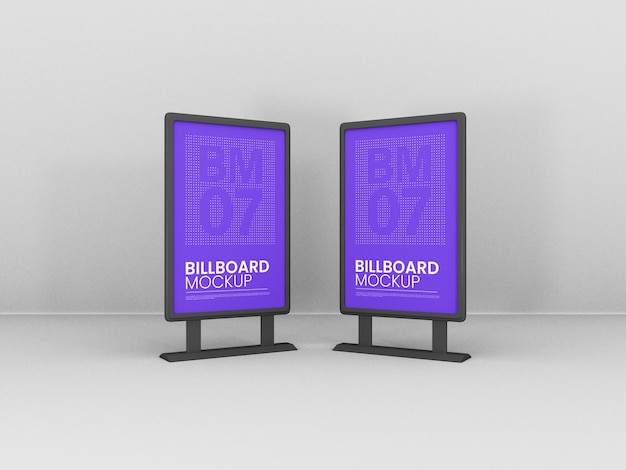 Vertikaler stand billboards mockup
