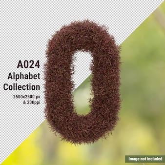 Vertikales alphabet des roten gartenbaums und der grünen, weißen blätter