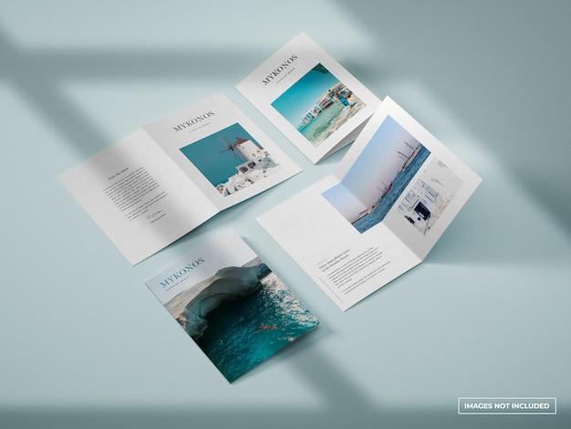 Vertikales bifold-broschürenmodell