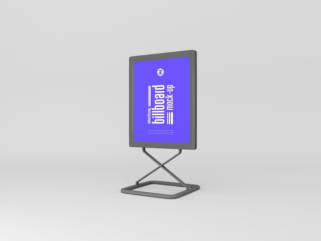 Vertikales billboard-mockup