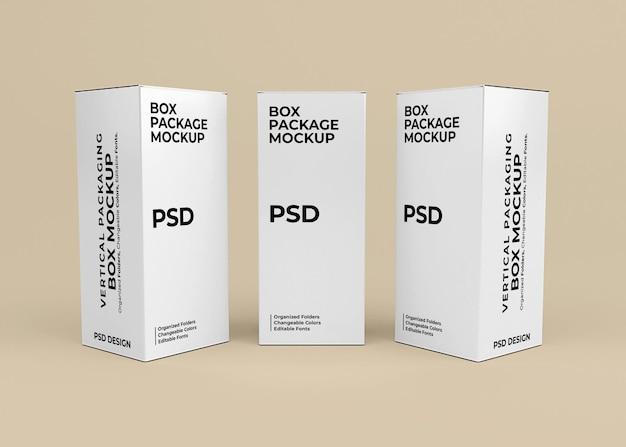 Vertikales box-mockup-design für produktverpackungen
