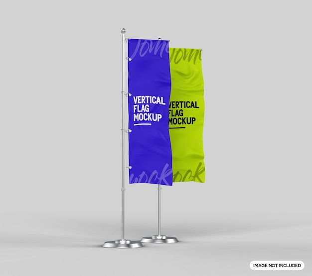 Vertikales flaggenmodell