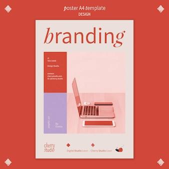 Vertikales plakat für grafikdesigner