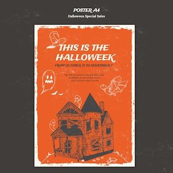 Vertikales plakat für halloween