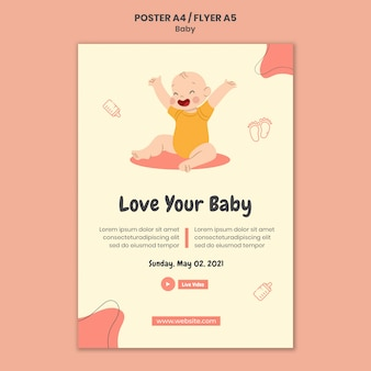 Vertikales plakat für internationalen babytag
