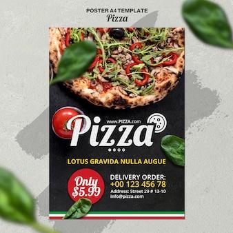 Vertikales plakat für italienisches pizzarestaurant