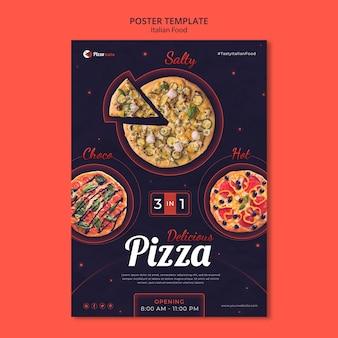 Vertikales plakat für italienisches speiserestaurant