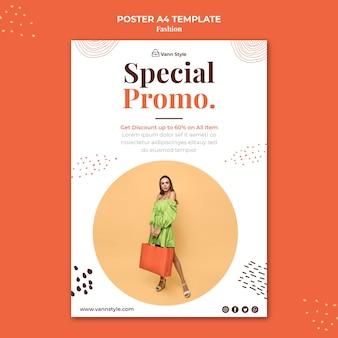 Vertikales plakat für modeeinkaufsgeschäft