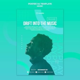 Vertikales plakat für musikliebhaber