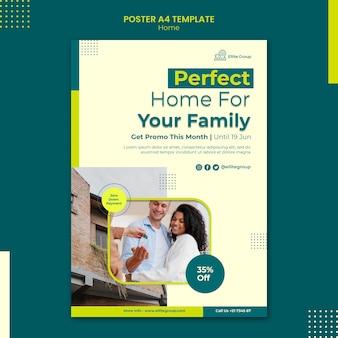 Vertikales plakat für neues familienhaus