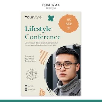 Vertikales plakat für persönlichen lebensstil