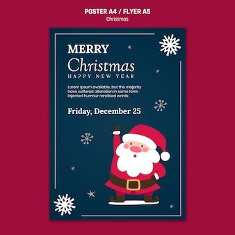 Vertikales plakat für weihnachten mit weihnachtsmann