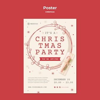 Vertikales plakat für weihnachtsverkauf