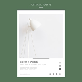 Vertikales plakat für wohnkultur und design