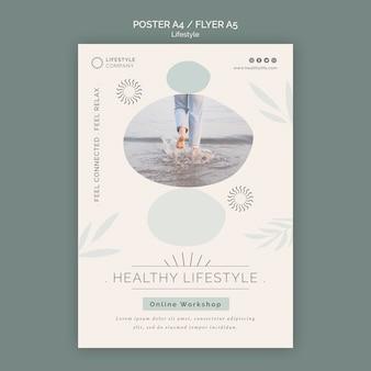 Vertikales poster für ein gesundes lifestyle-unternehmen