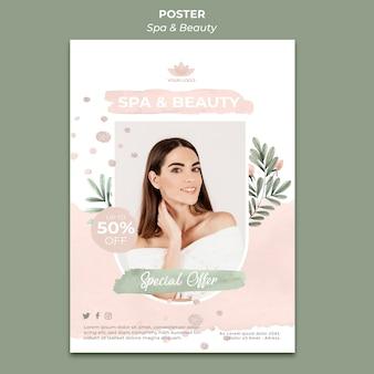 Vertikales poster für spa und therapie