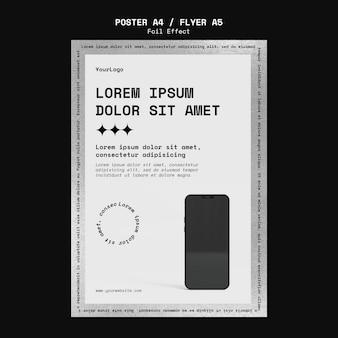 Vertikales poster für technik mit folieneffekt