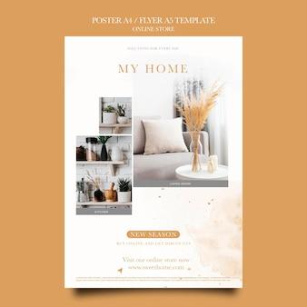 Vertikales poster für wohnmöbel online-shop