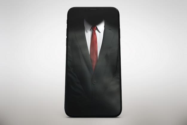 Vertikales smartphone schlägt hoch