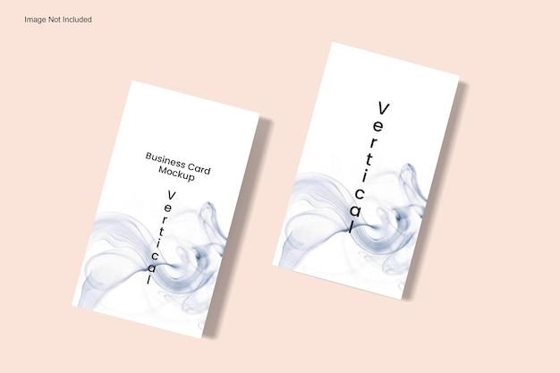 Vertikales visitenkarten-mockup ansichtswinkel von oben