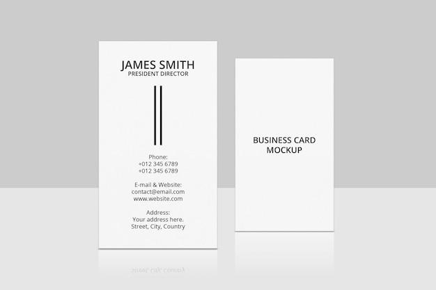 Vertikales visitenkarten-mockup-design