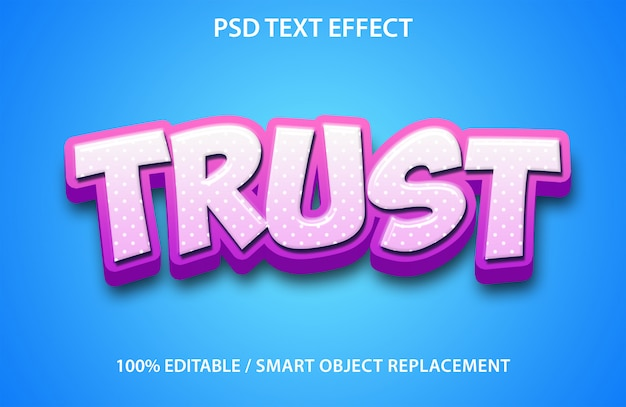 Vertraue dem texteffekt