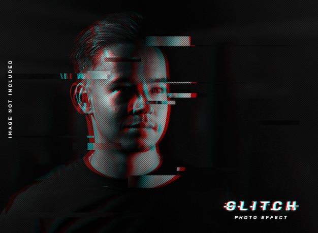 Vhs-glitch-fotoeffekt