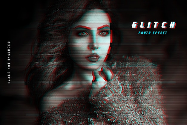 Vhs glitch fotoeffekt